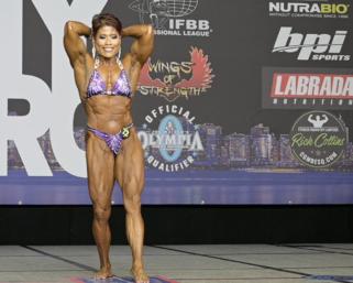 2020 @ifbb_pro_league NY Pro Women's Bodybuilding Pro Maria Flores Posing Routine.