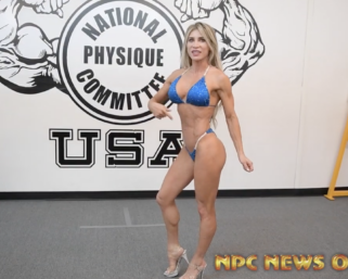 NPC Bikini competitor Jodie Sweeney @jomarswe  Posing Practice