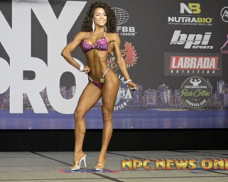 2020 IFBB Pro League  NY Pro Bikini Winner Etila Santiago Posing Routine