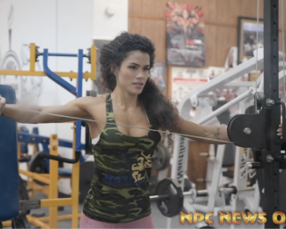 2020 Road To The Olympia: IFBB Pro League Bikini Pro Etila Santiago Shoulder Workout