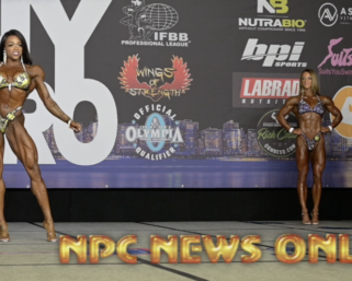 2020 IFBB NY PRO Women's Figure Winner Nicole Zenobia Posing Video