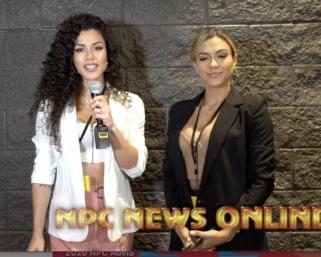 IFBB Pro League Bikini Pro Etila Santiago interviews IFBB Pro League Bikini Pro Raphaela Milagres