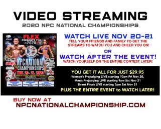The NPC is offering VIDEO STREAMING of the 2020 NPC NATIONAL CHAMPIONSHIPS from Orlando, Florida!