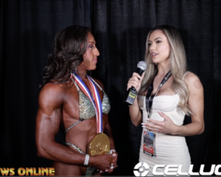 2020 Olympia: Women's Physique  Winner SARAH VILLEGAS interviewed by Raphaela Milagres