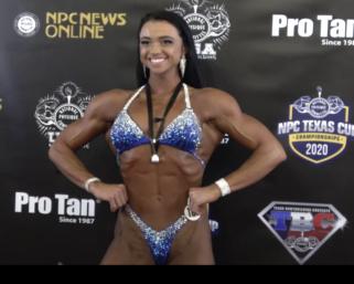 2020 NPC Texas Cup Women's Figure Overall Winner Tay Rochelle