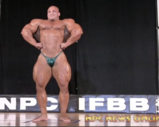 """Mamdouh """"Big Ramy"""" Elssbiay Guest Posing at the 2014 IFBB Pittsburgh Pro"""