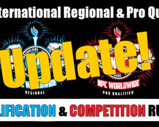 2021 NPC WorldWide Regional/Pro Qualifier Clarification