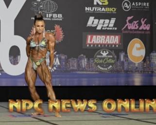 2020 IFBB Pro League  NY Pro Women's Physique Winner Rachel Daniels Posing Routine.