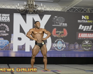 2020 @ifbb_pro_league NY Pro  10th Place Classic Physique Winner Theodore Atkins Posing