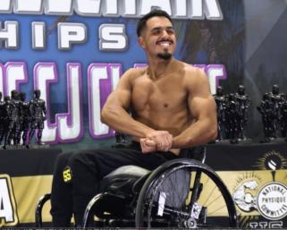 2021 NPC Wheelchair Nationals Men's Bodybuilder Abraham Sanchez Posing Routine
