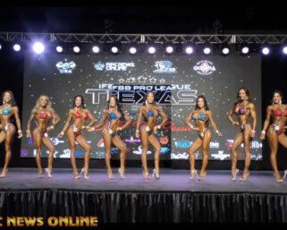 2021 IFBB Pro League Texas Pro Bikini Prejudging, Finals Comparison, Awards & Interview Videos