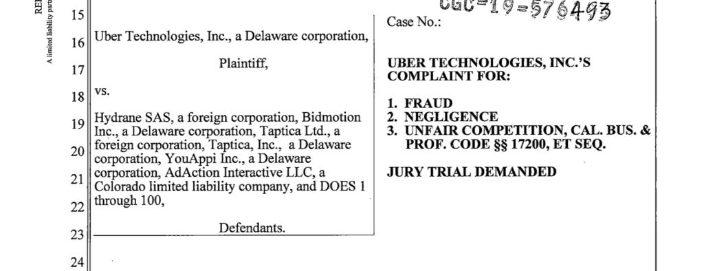 Uber Fraud Lawsuit