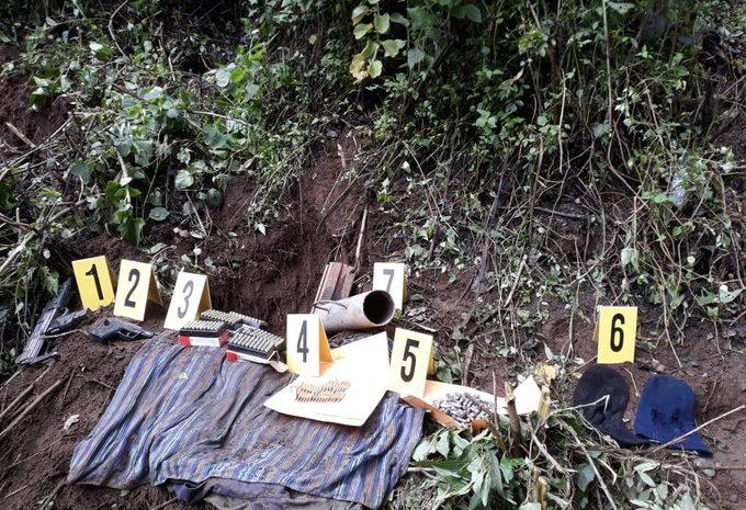 MP localiza varias armas en el marco del Estado de Sitio en Sololá
