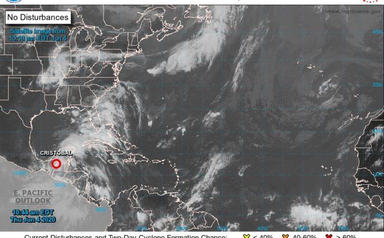 Cristóbal se debilitó a Depresión Tropical, sigue generando lluvias en el país