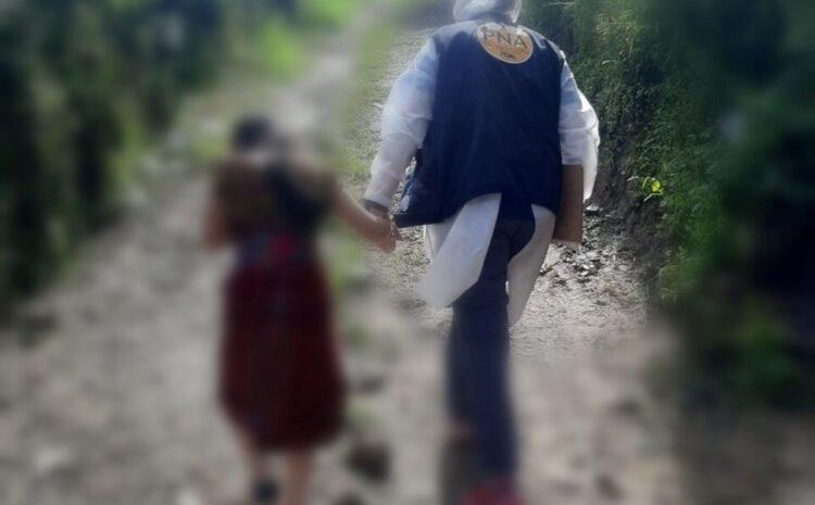MP coordina rescate de niña agredida en San Juan Sacatepéquez