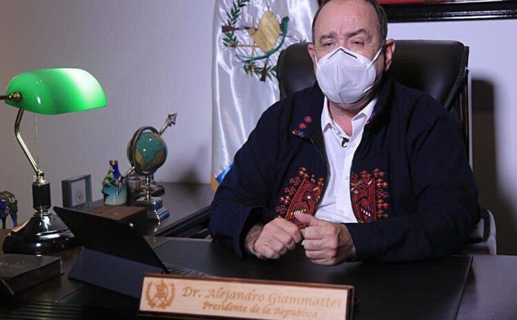 Giammattei: La preservación de la salud y la recuperación económica es el reto que ahora enfrentamos