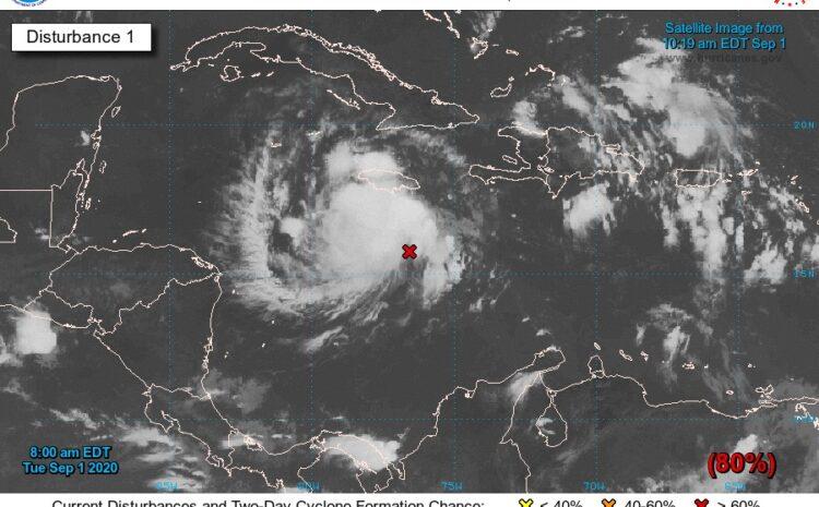 Tormenta tropical Nana podría ingresar al país el próximo jueves