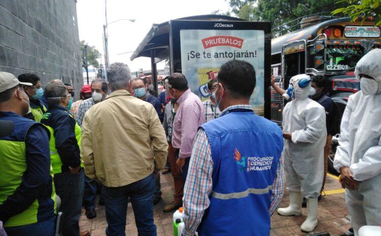 PDH verifica medidas de bioseguridad en el transporte extraurbano