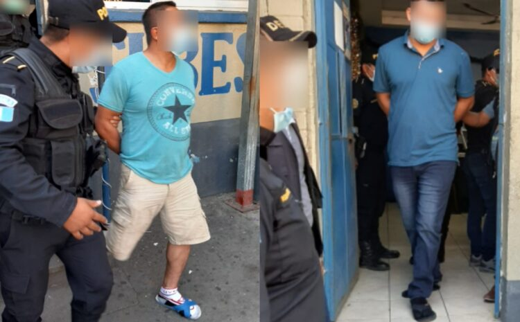 Capturan a dos agentes de la PNC en Escuintla acusados de violación