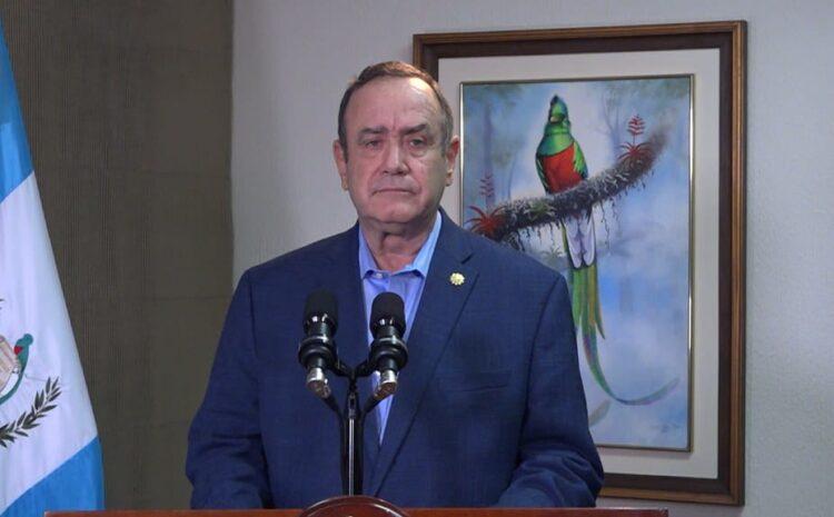 Giammattei enviará nuevo Estado de Calamidad al Congreso por aumento de casos de COVID-19