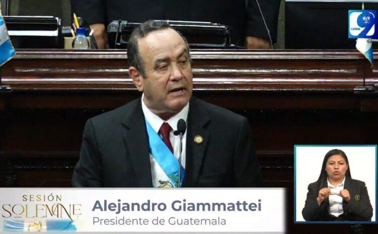 Giammattei: No podemos perder más tiempo en divisionismo e intereses particulares y sectoriales que no nos dejan avanzar