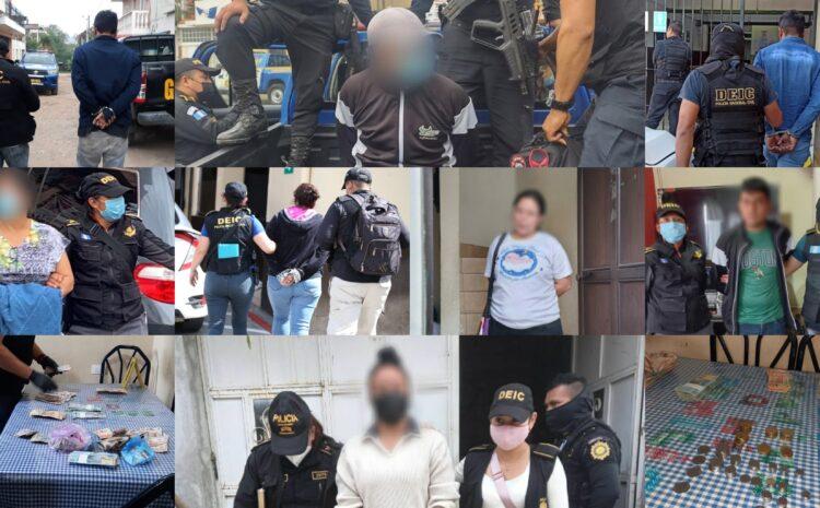 Capturan a 12 presuntos extorsionistas e integrantes de la mara salvatrucha