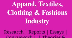 Apparel, Textiles, Clothing & Fashions Industry industry Industry – Sector Apparel Textiles Clothing and Fashions Industry