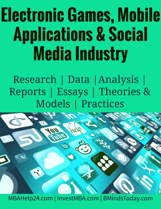 Electronic Games, Mobile Applications and Social Media Industry- MBA Social Media Management