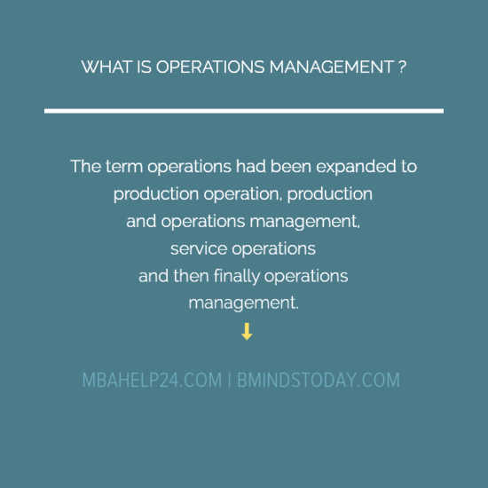 Key Concepts In Operations Management operations Key Concepts In Operations Management OPERATIONS MGMT