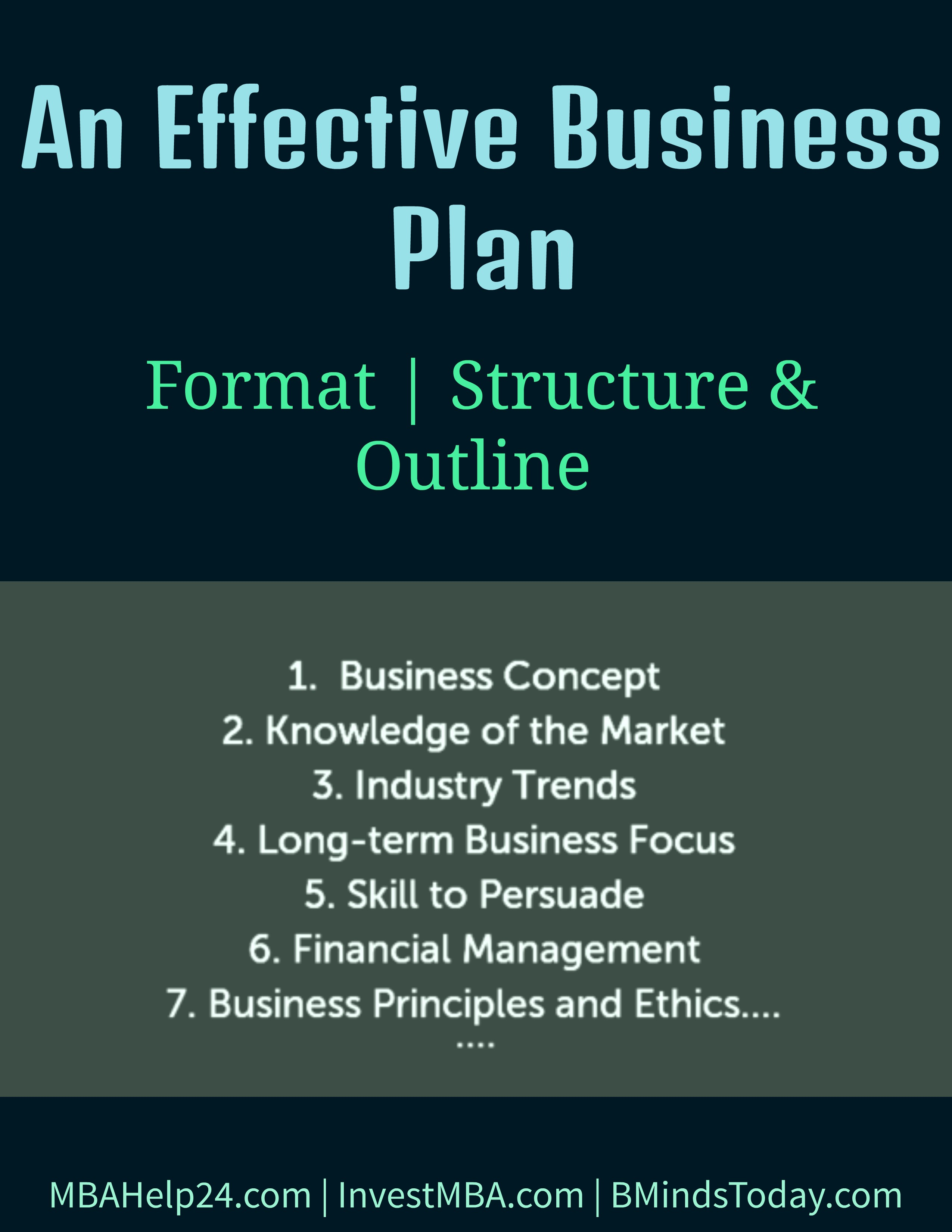 An Effective Business Plan | Format | Structure | Outline business plan An Effective Business Plan: Format, Structure & Outline an effective business plan Structure and Outline