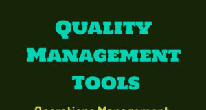 Total quality management tools