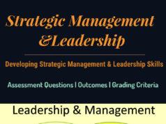 Strategic Management &Leadership |Developing Strategic Management And Leadership Skills |Assessment Criteria & Format