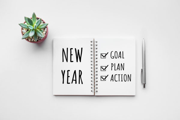 New Year Goal, Plan, Action Checkbox