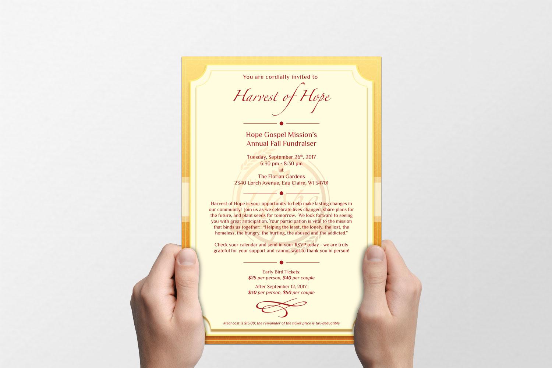Harvest of Hope Invite