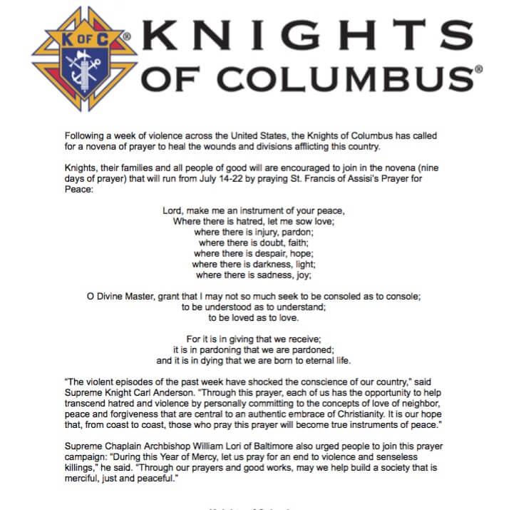 KC Prayer Novena