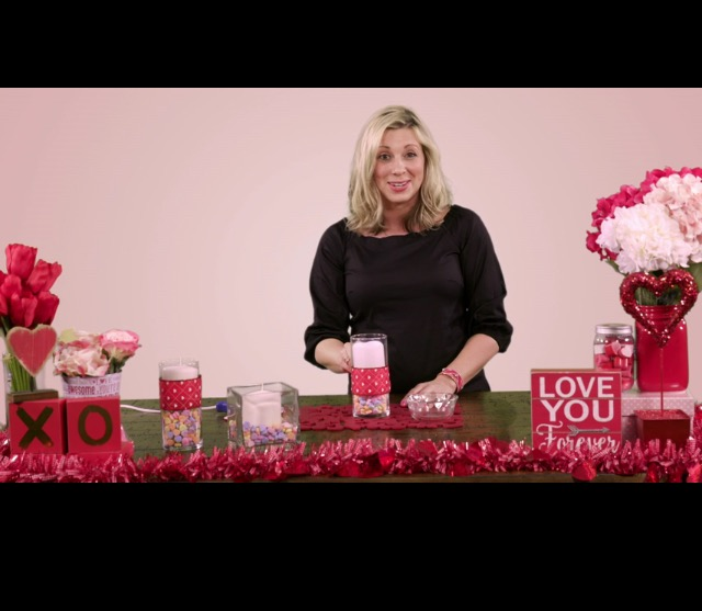 Valentine's Day Life Hacks: Candy Candle and Queen of Hearts Garland