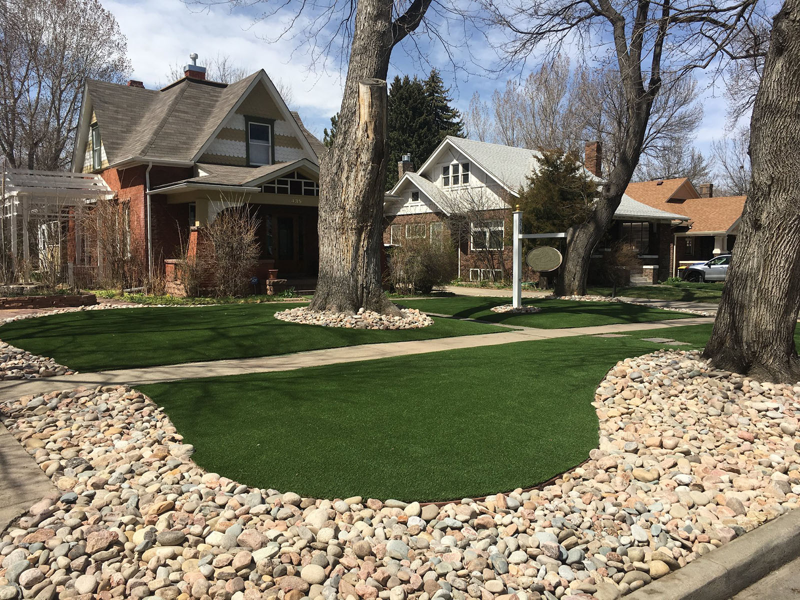 synthetic grass installation and design