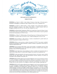 CCW Governor's Emergency Declaration