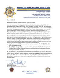 CCW Letter from NV Sheriffs