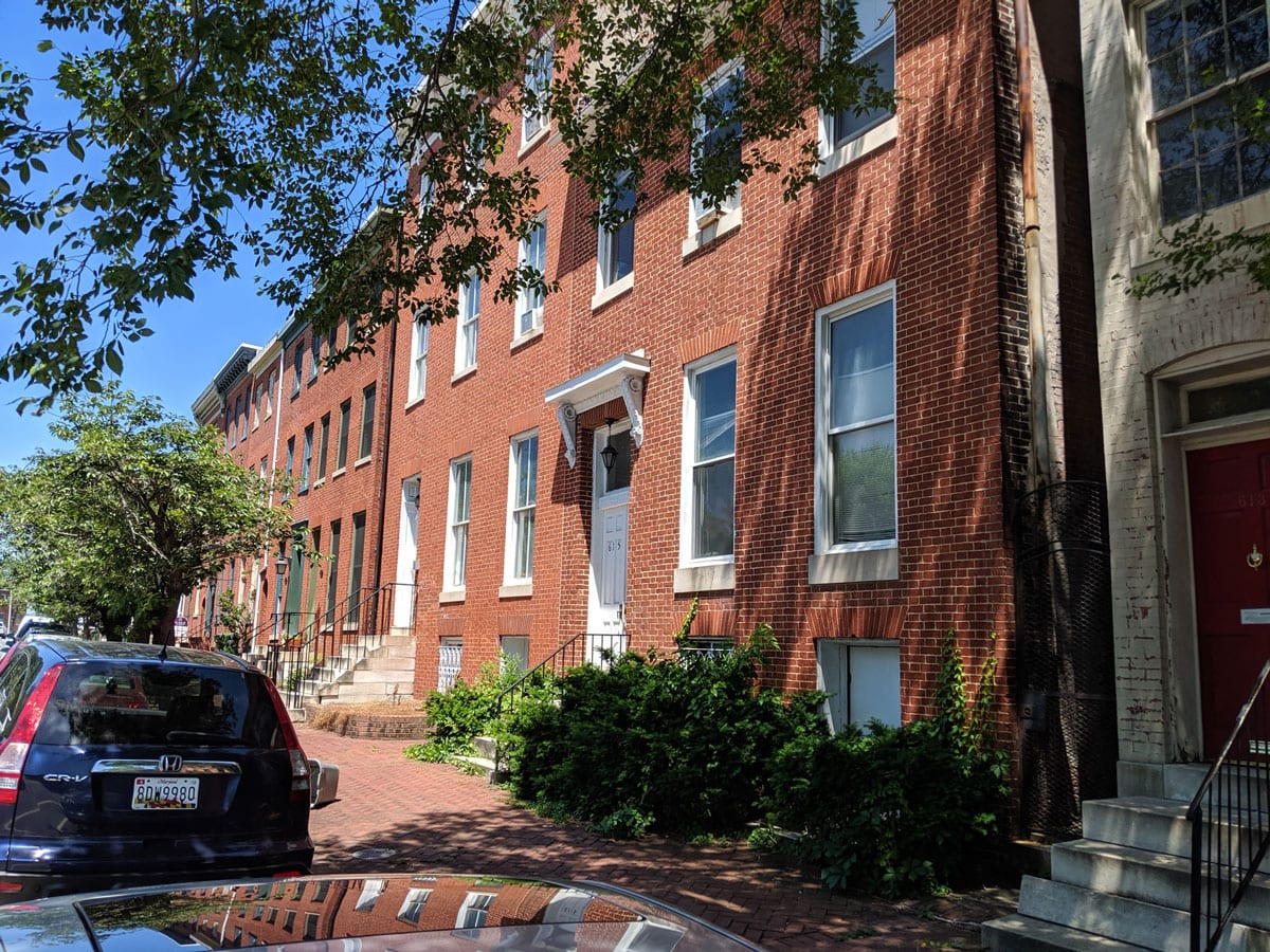 615-617 N. Paca St: 7 Apartments across from Saint Mary's Park