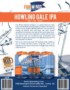 Fair Winds Brewing Sell Sheet