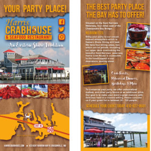 Harris Crab House Rack Card