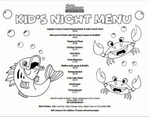Harris Crab House Kids Menu