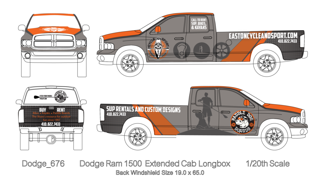 Easton Cycle & Sport Truck Wrap