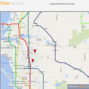 Fiber Map of the Bradenton Area