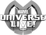 Marvel Universe Live black and white logo