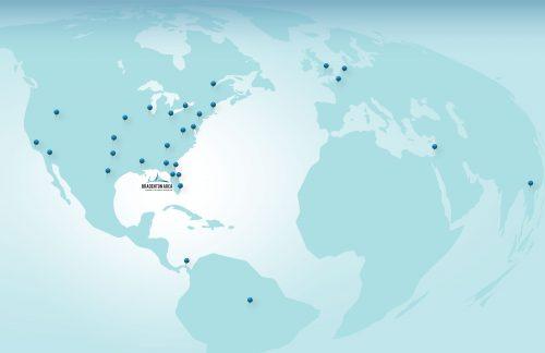 Bradenton Area EDC Travel Pin Map