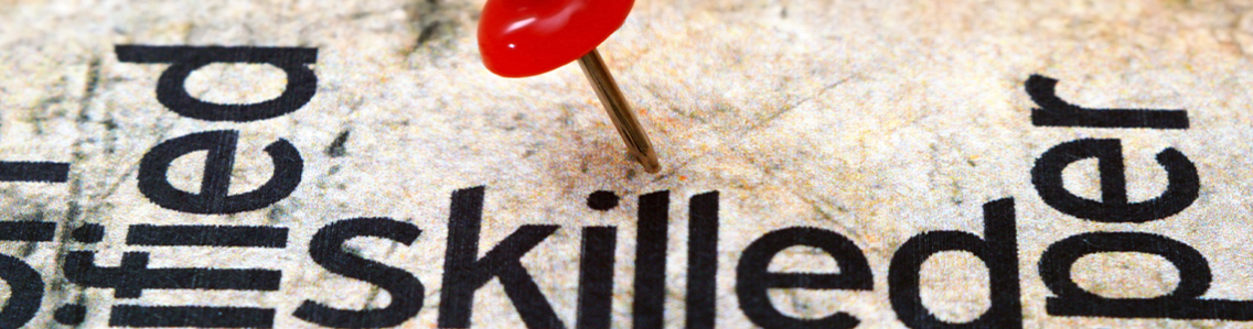 Skilled push pin header image