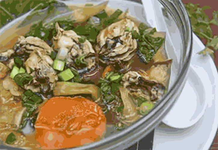 Kimchi Vegetable Soup with Oysters