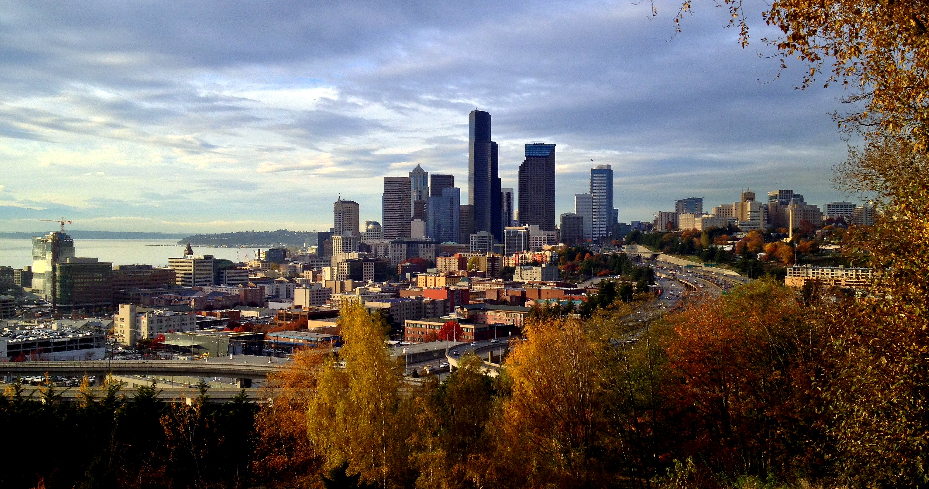 Welcoming the Holiday - Seattle in the Fall, view from the South.